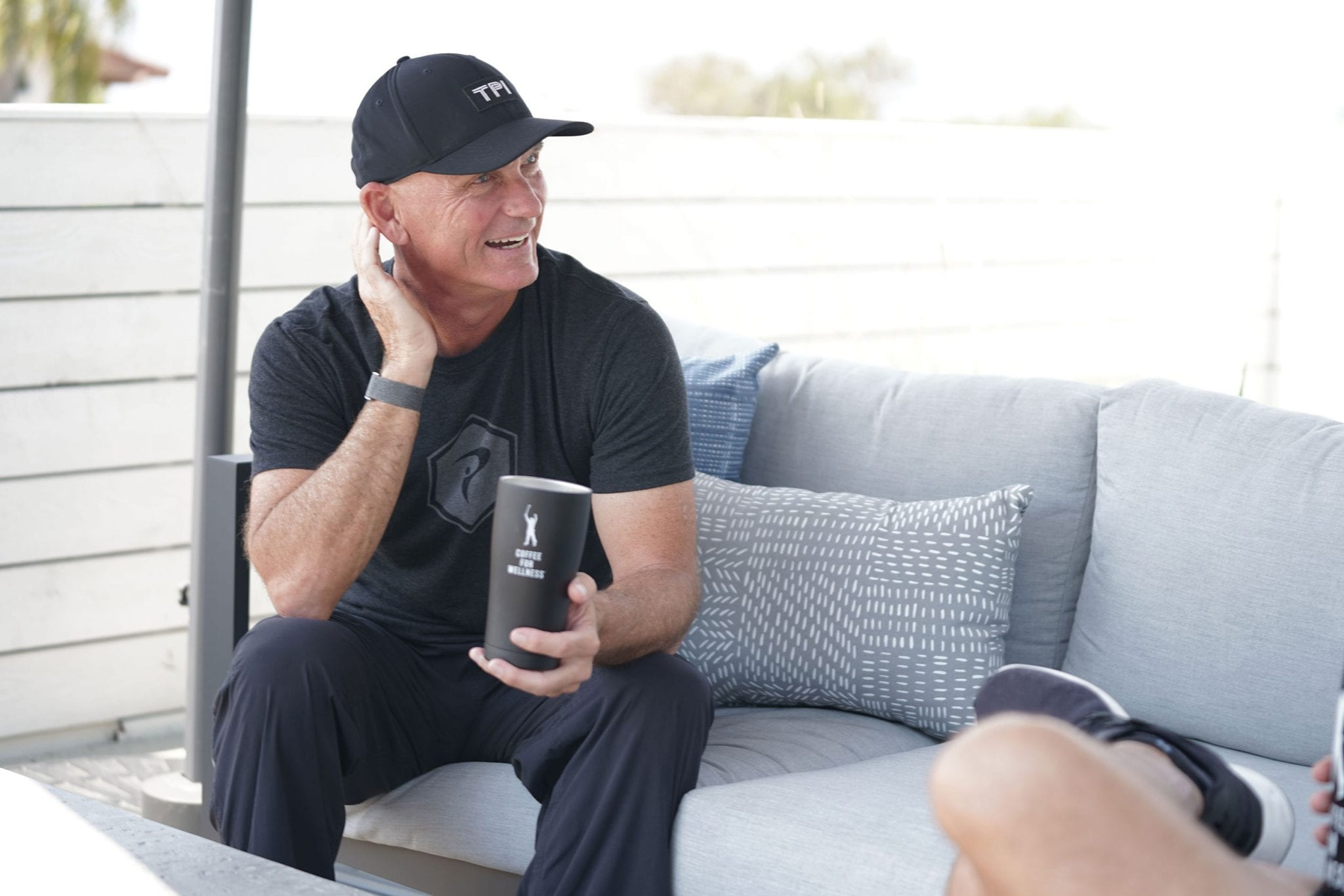 Dave Phillips, Phil Mickelson's coach, drinking Coffee for Wellness